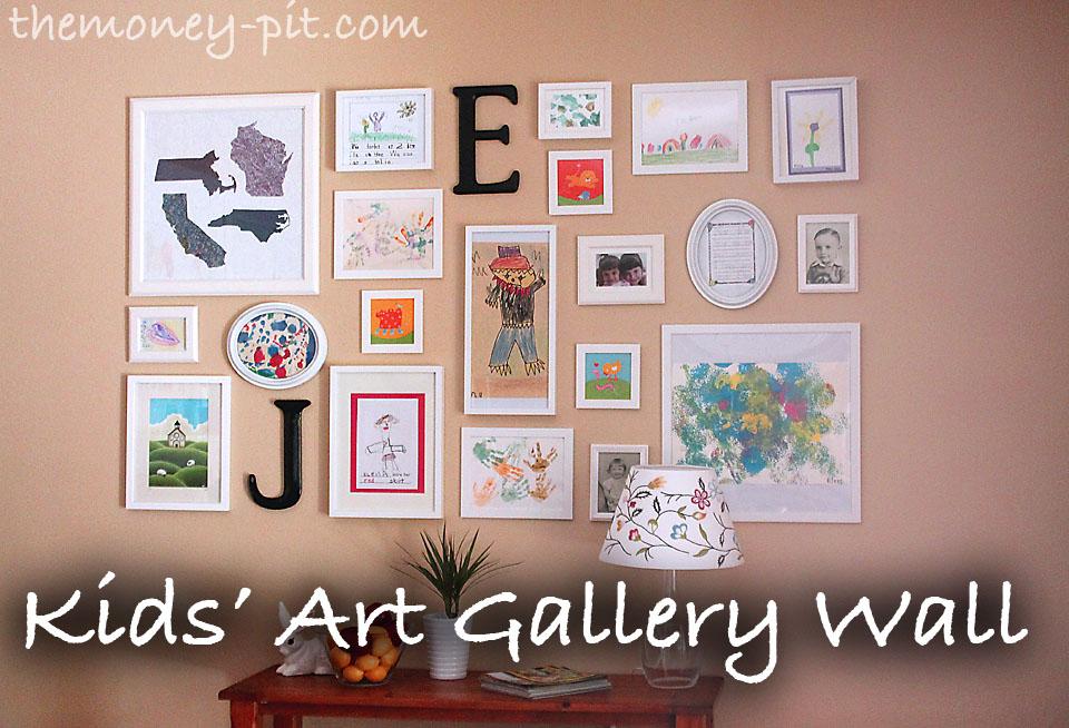 Kids\' Artwork Gallery Wall (The Lazy Way) - The Kim Six Fix