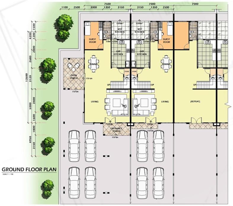 Rich Venture Construction Sdn Bhd Double Storey Terraced Houses – Single Storey Terrace House Floor Plan