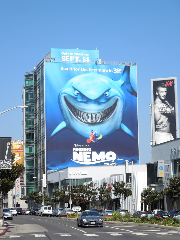 Giant Finding Nemo 3D movie billboard Sunset Strip