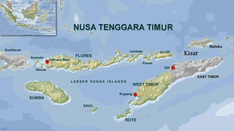 Alor Island Map