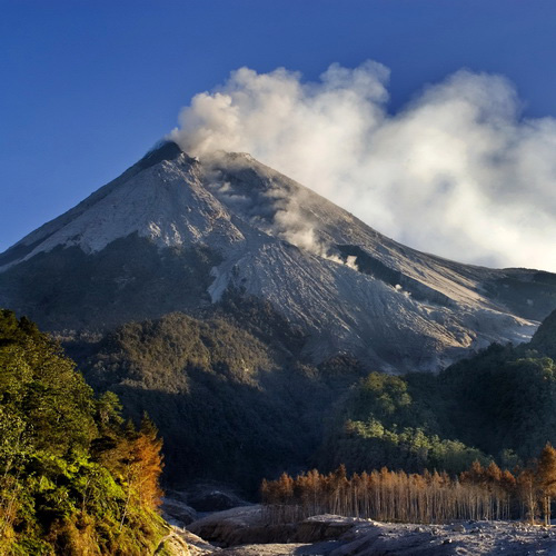 Tinuku Travel Mount Merapi National Park conservation area most active volcanoes in the world and tracks geological sites