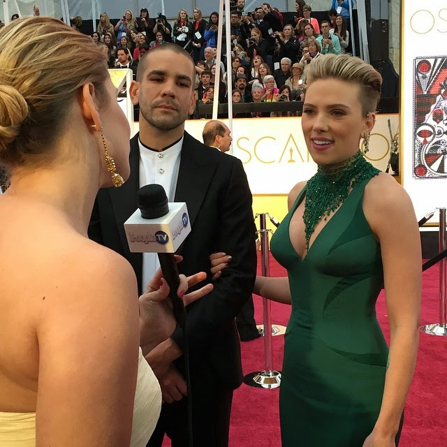 Scarlett Johansson no Oscars 2015!