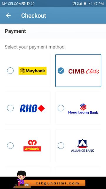 Pelbagai pilihan pembayaran untuk Photobook Malaysia