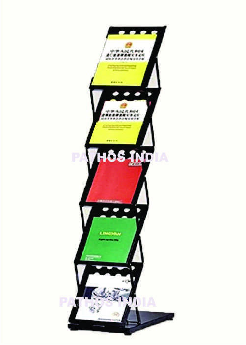 Magazine Stand Black For Office Use Home Library Floor
