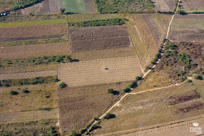 vista aerea de los campos de oaxaca