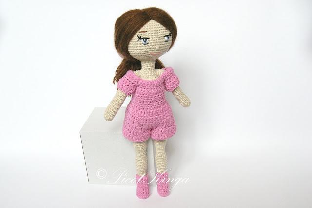 Szydełkowa lalka Klara