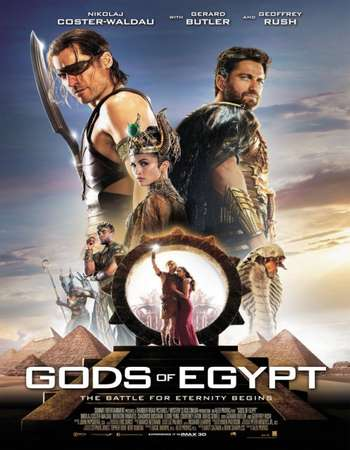 Poster Of Gods of Egypt 2016 Dual Audio 350MB HDTS 480p Free Download Watch Online
