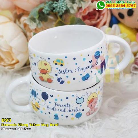 Souvenir Ulang Tahun Mug Bowl Printing