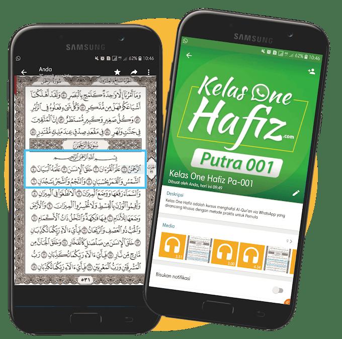 Tahfidz Online via WhatsApp di OneHafiz.com - Mudah, Sistematis, Cocok untuk Pemula