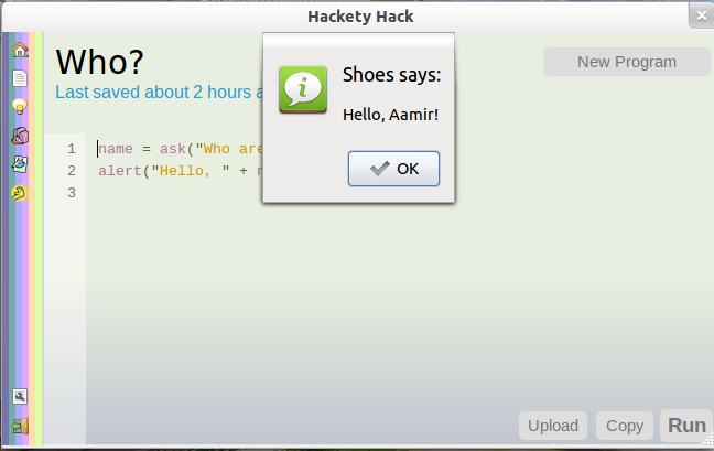 Ubuntu Buzz !: Hackety Hack: Ruby Programming for novices