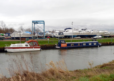 Glanford Boat Club in January 2019 - pictured from the opposite bank of the New River Ancholme in Brigg - see Nigel Fisher's Brigg Blog