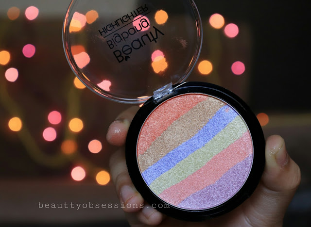 Beautybigbang Rainbow Highlighter and Contour Palette - Review and Swatches