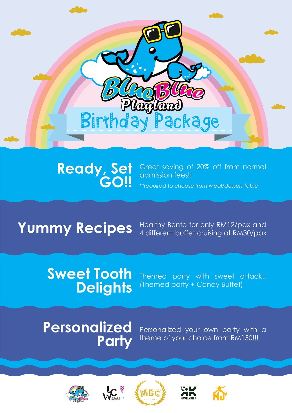 blueblue playland birthday party