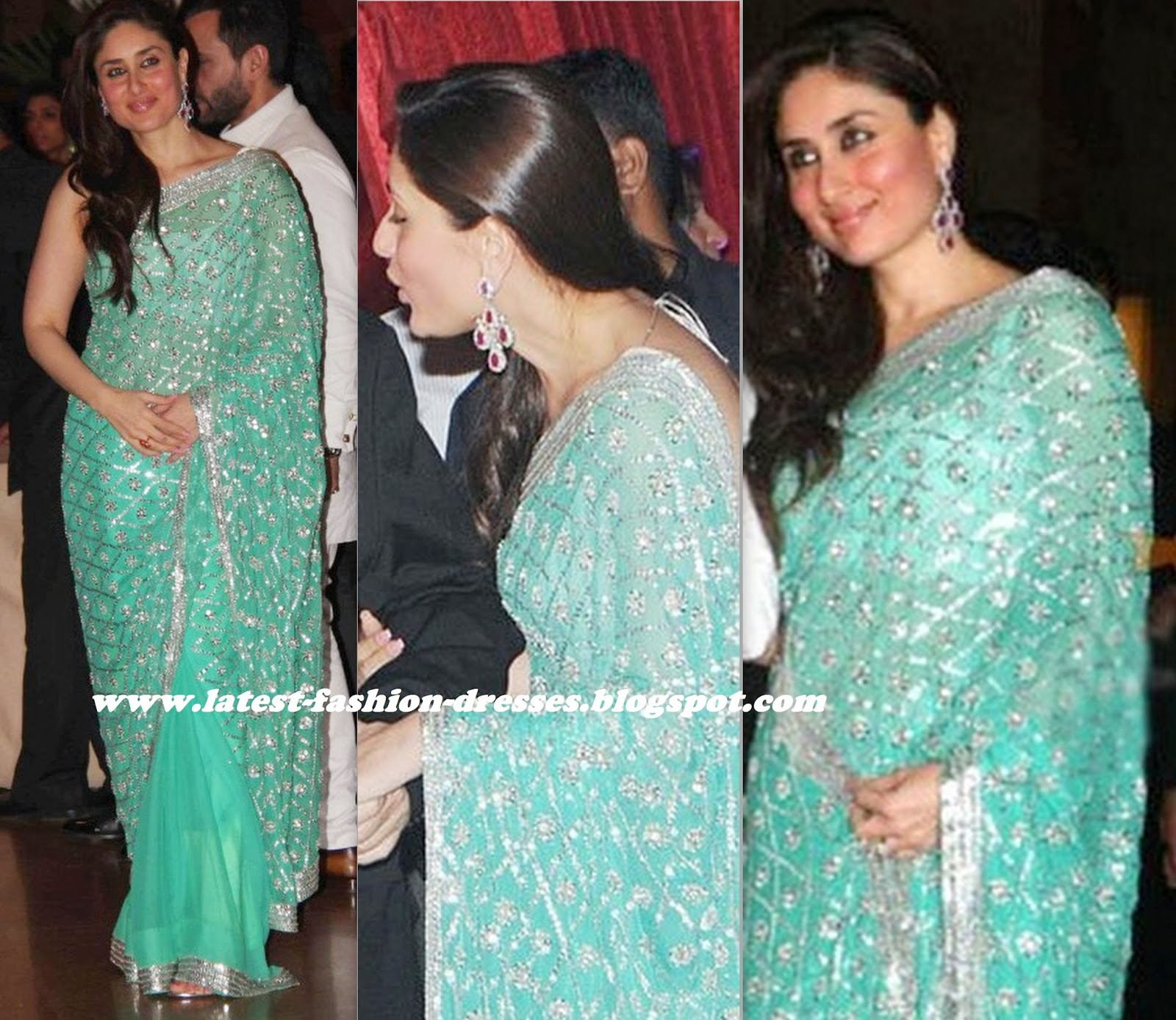 new trend designer saree in bollywood actress kareena kapoor