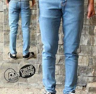 celana jeans skinny premium pria