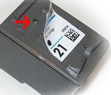 Como recargar cartucho HP 21