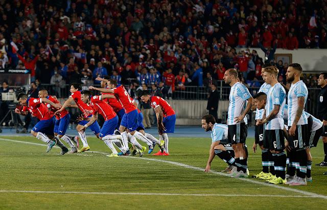 Chile y Argentina en Copa América 2015, 4 de julio
