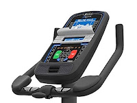 Nautilus U616 console, image, with Dual Track blue backlit LCD screens, 4 user profiles, Bluetooth