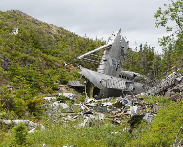 B-36 debris field