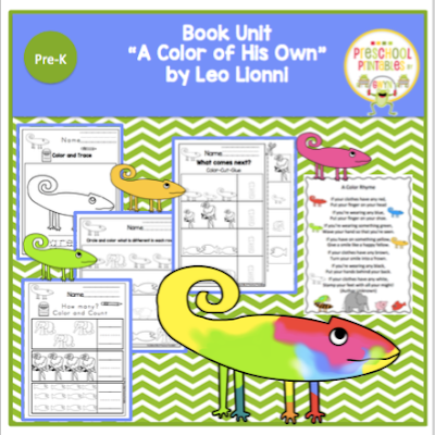book unit a color of his own by leo lionni - A Color Of His Own Book