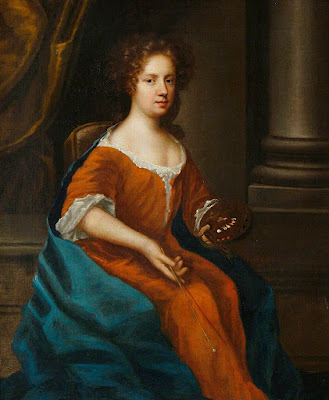 Self Portrait, Holding an Artist's Palette (1675), Mary Beale