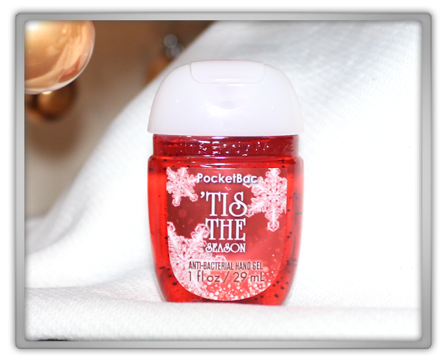 Bath & Body Works Christmas Haul Review PocketBac anti-bacterial Sanitizing Hand Gel Tis the Season