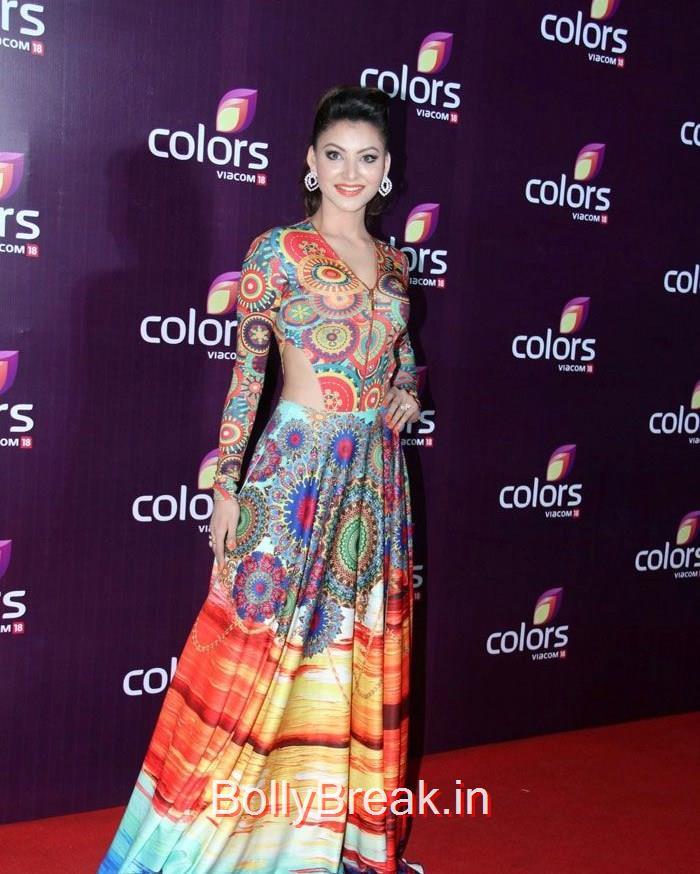 Urvashi Rautela, Lauren Gotlieb Sonali Kulkarni Urvashi Rautela Hot Pics At Colors Leadership Awards 2015