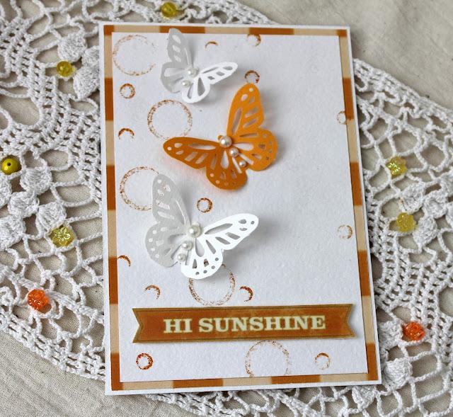 открытка с бабочками, C&S