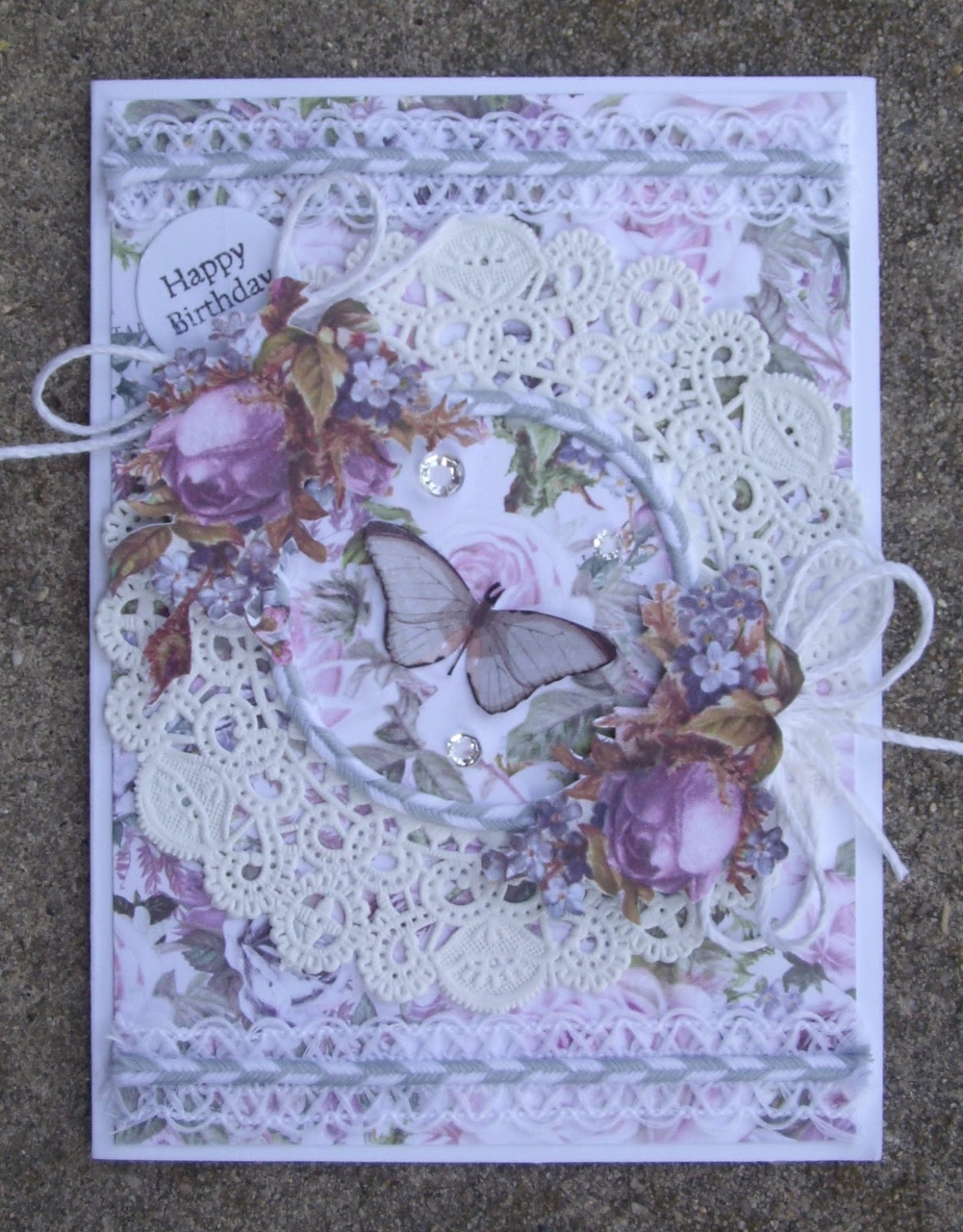 Today I Have A Birthday Card To Share Using The Lavender Collection By Prima Limited Myself Mainly Papers For Background And