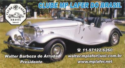 O cartão de visitas do Clube do MP Lafer prestigia o site mplafer.net - página onde os laferistas se encontram.