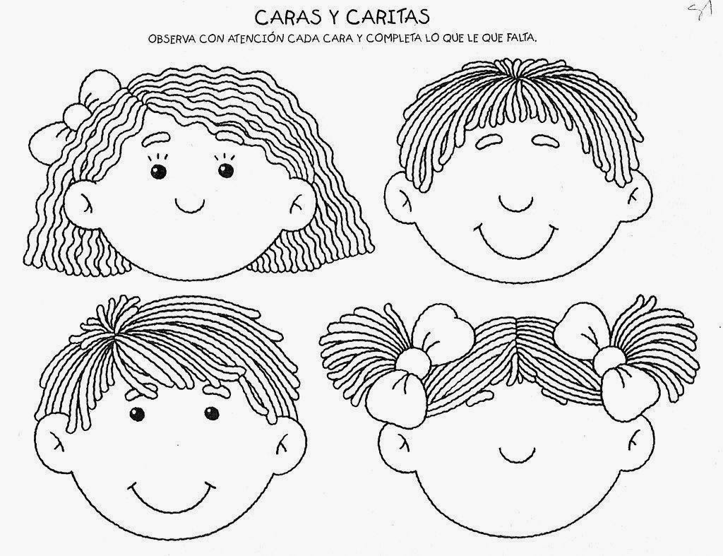 Dibujo De Cara De Niño Pequeño Para Colorear: Dibujos Para Colorear. Maestra De Infantil Y Primaria