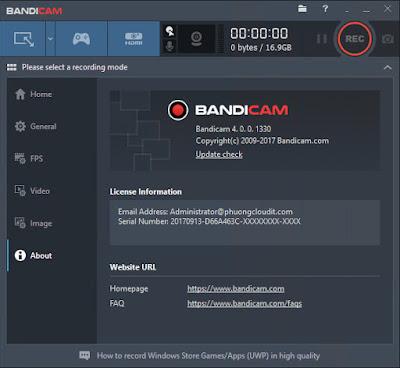 Bandicam 4.1.2.1385 Full + Portable - Phần mềm quay video, ghi âm game, màn hình.