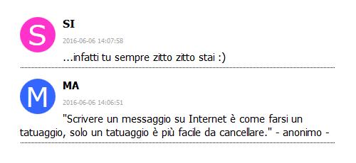 demo icona commenti guestbook blog ws x5