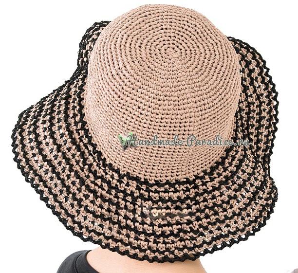Соломенная шляпа крючком. Схемы вязания (4)