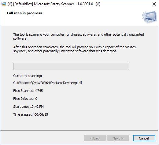 MSERT: Microsoft Freee Offline Safety Scanner | Supratim Sanyal's Blog