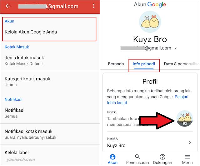 Cara Mengganti Foto Profil Gmail di Android Tanpa Aplikasi