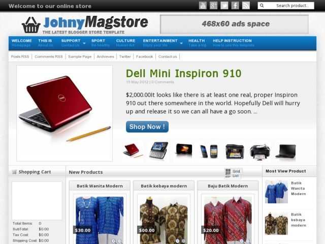 Demo Johny Magstore Blogger Template