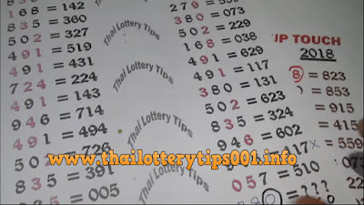 Thai Lottery 3UP Direct Set Touch Formula 01 October 2018