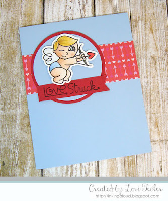 Love Struck card-designed by Lori Tecler/Inking Aloud-stamps from Paper Smooches