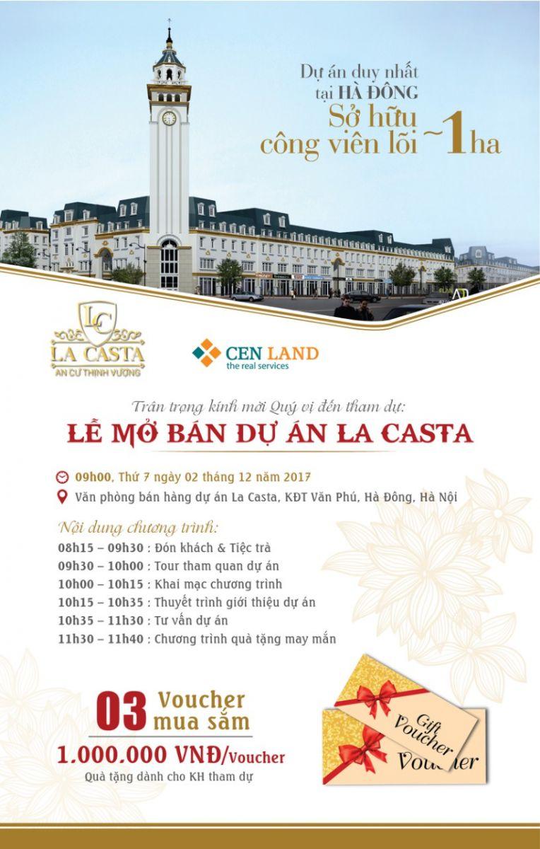 Thư mời mở bán liền kề La Casta Văn Phú