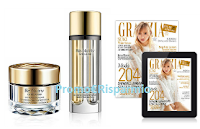 Logo Estée Lauder: vinci gratis kit prodotti e abbonamenti annuali a Grazia