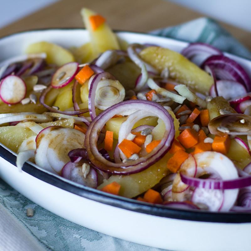 receta de ensalada tibia de patata con thermomix