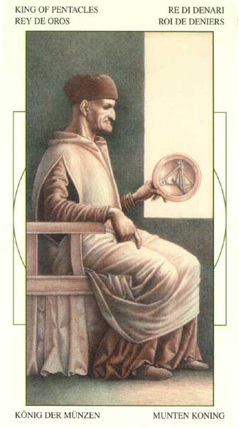 King of Pentacles - Leonardo Da Vinci Tarot