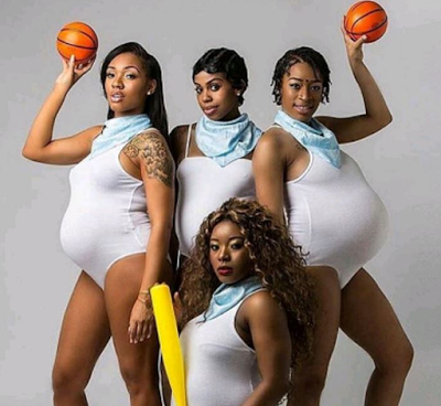 Aww!! Checkout These Beautiful Maternity Photoshoot Of Four Friends