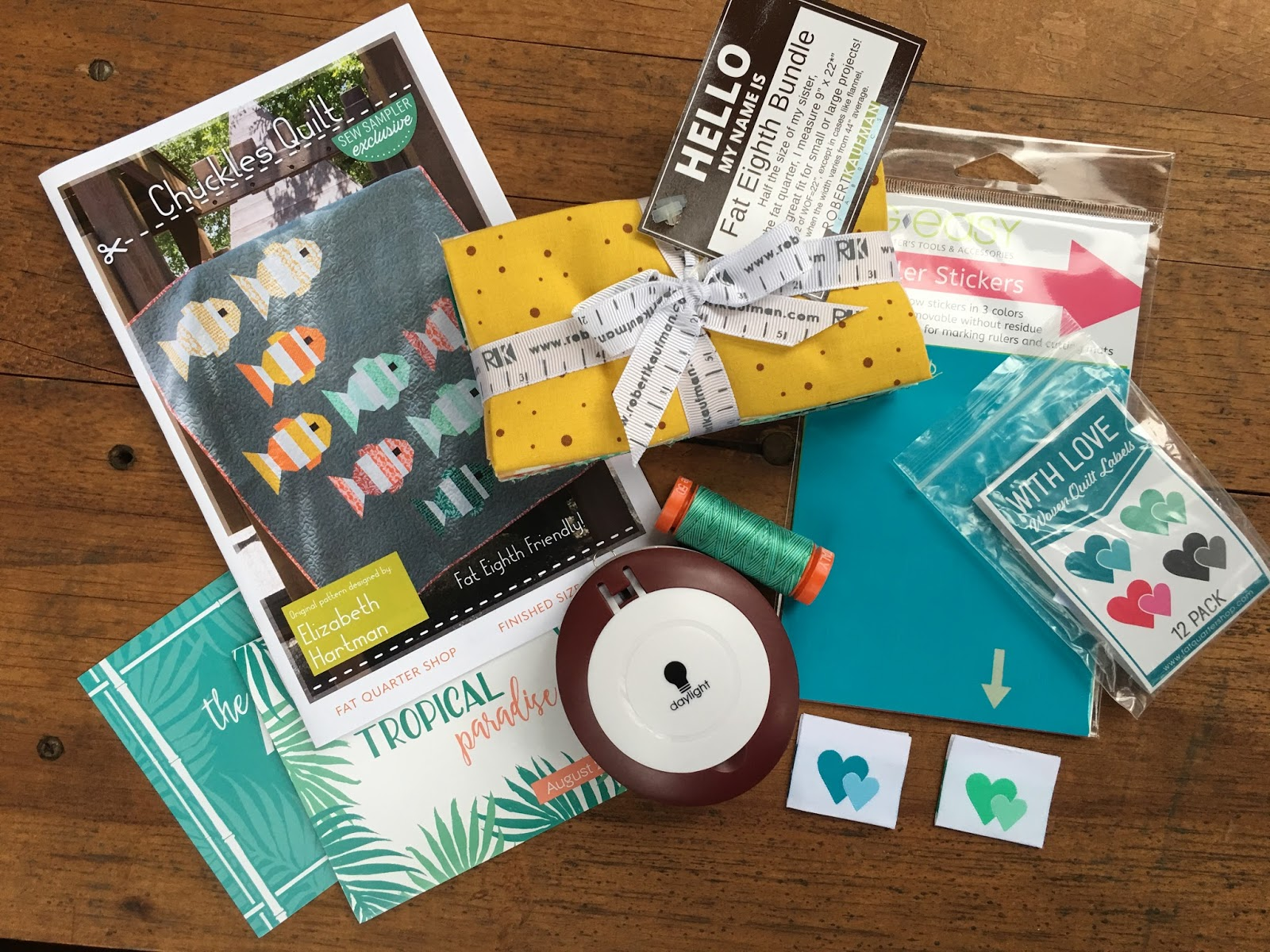 Carried Away Quilting August Sew Sampler Box With Fat