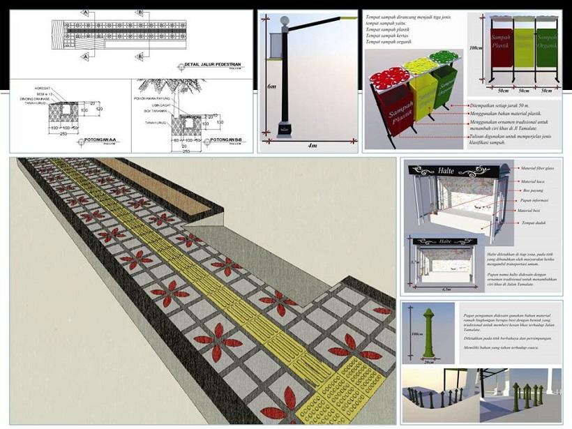 Landscape Project : Jalur Pedestrian Jl. Tamalate Makassar Yanikmatilah Saja
