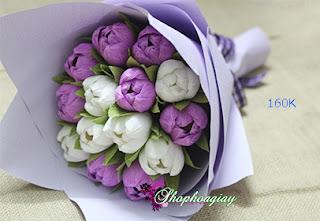 hoa tulip giấy loại lớn