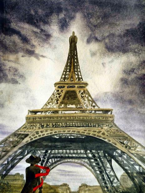 Irina Sztukowski Eiffel Tower - Walking Dog In Paris