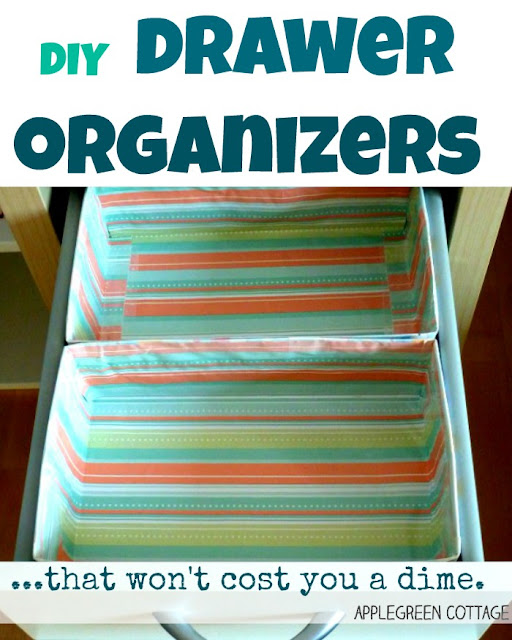 drawer organizer DIY