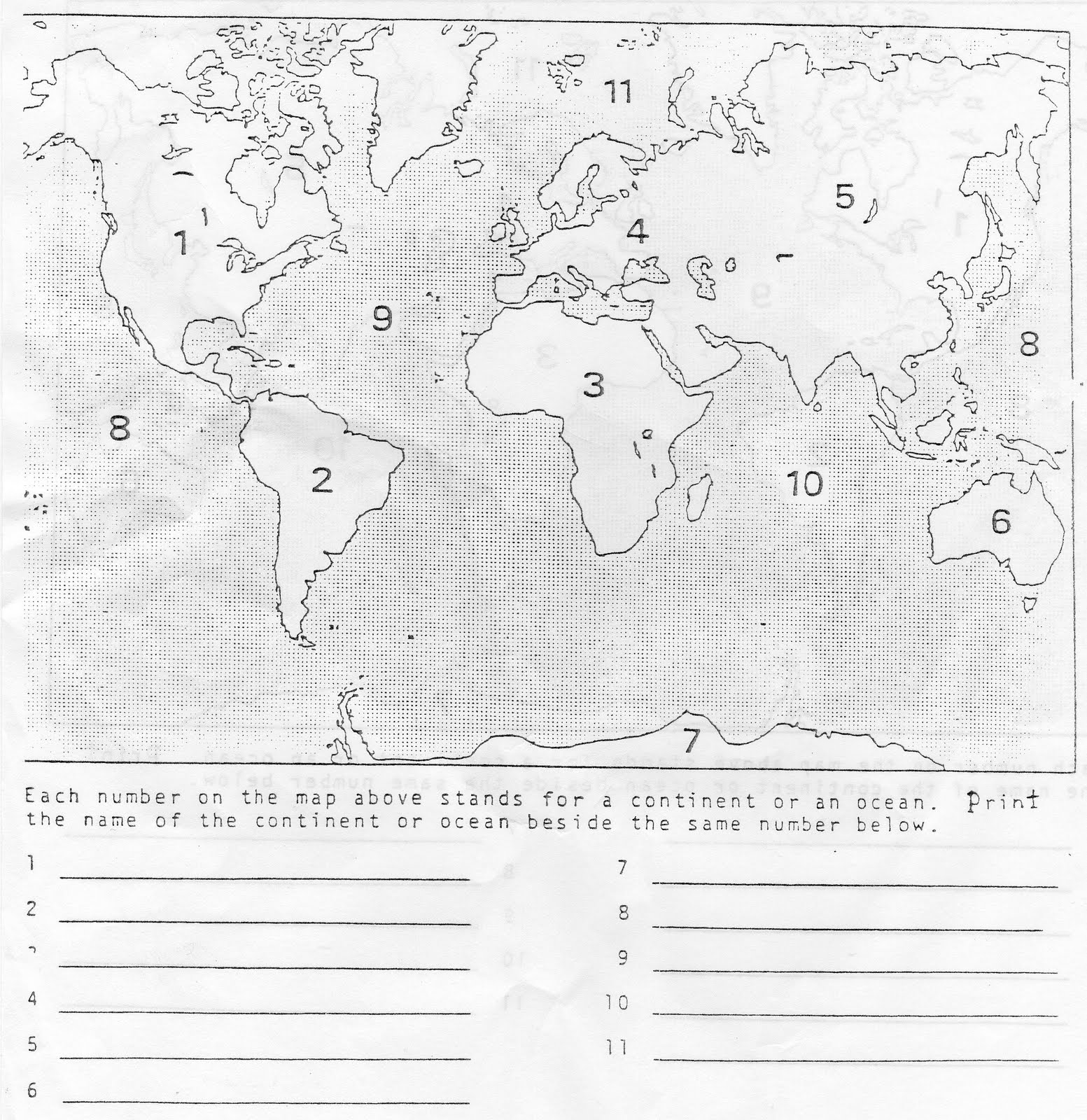 hight resolution of Continents And Oceans Worksheets 5th Grade   Printable Worksheets and  Activities for Teachers